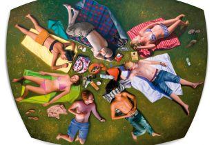 Picknick #2, 176 x 140 x 16 cm, 2015, Öl auf Leinwand