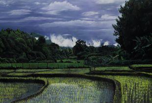 Monsun, 140 x 210 cm, , Öl auf Leinwand