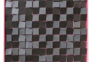Remix, 100 x 100 cm, 2015, Graphit auf Holz