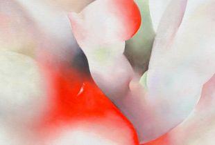 Rubin, 85 x 65 cm, 2014, Öl auf Leinwand