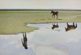 Rückkehr, , 150 x 250 cm, 2011, Öl auf Leinwand