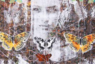 Schmetterlingskunde 17-10, 120 x 80 cm, 2017, Mischtechnik auf Leinwand