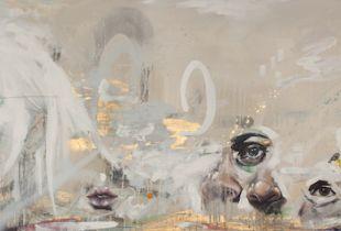senses, 60 x 180 cm, 2017, Mischtechnik auf Leinwand