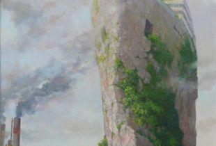 Steinige Seefahrt, , 76 x 61 cm, , Öl auf Leinwand
