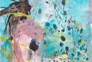 Steppenkind, 150 x 160 cm, 2015, Mixmedia auf Papier