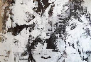 Sunday evening post, 120 x 120 cm, 2017, Acryl auf Aludibond
