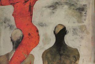 Triumvirat, , 200 x 150 cm, , Mixmedia auf Leinwand