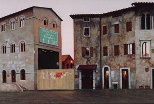 Tunnel, , 46 x 91 cm, 2007, Öl auf Leinwand