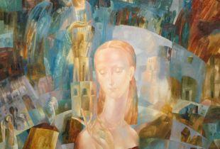 Der Turm der Frauen, , 80 x 80 cm, 2009, Öl auf Leinwand