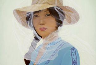 Veil, , 110 x 85 cm, 2009, Öl auf Leinwand