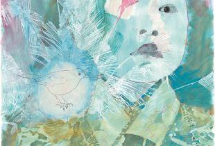 Vogelkind, 150 x 160 cm, 2010, Mixmedia auf Papier