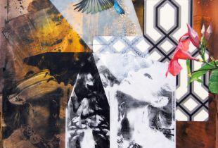 Von und nach oben, Nusbaum, Dieter, 80 x 80 cm, 2015, Mischtechnik auf Leinwand