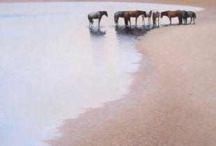 Weißer See, , 90 x 110 cm, 2011, Öl auf Nessel