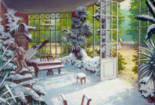 Wintergarten, , 80 x 100 cm, 2008, Öl auf Leinwand