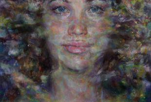 Ophelia der Farbe #4, , 180 x 140 cm, 2014, Öl auf Leinwand