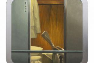 Zugfenster #3, , 102 x 109 cm, 2010, Öl auf Dibond